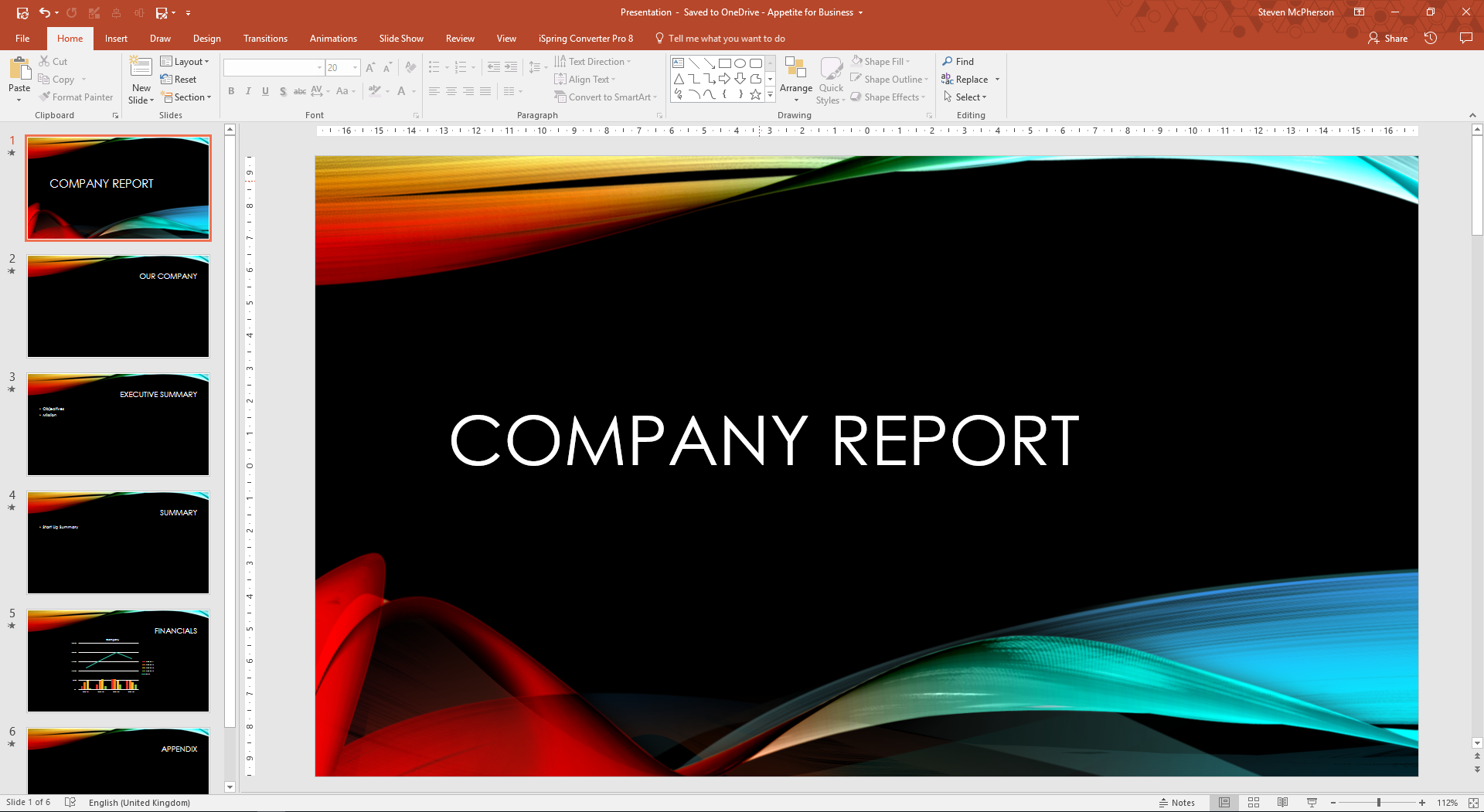 Creating a presentation in PowerPoint