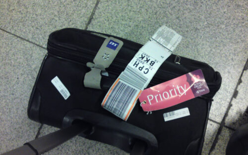 Baggage with priority tag