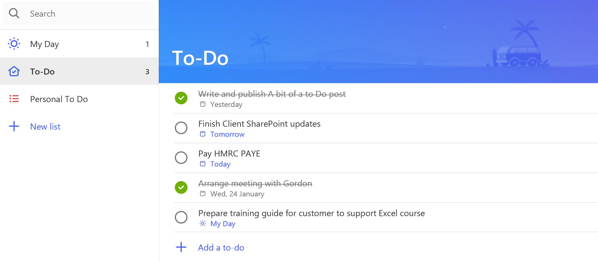 Microsoft To Do App