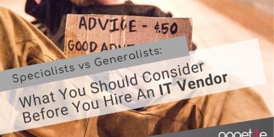 IT Specialist vs Generalist
