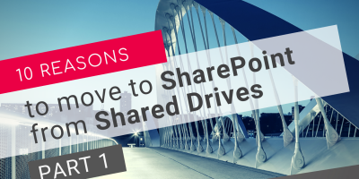 Move to SharePoint from Shared Drives