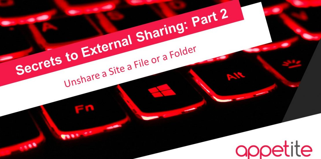 unshare a site a file or a folder