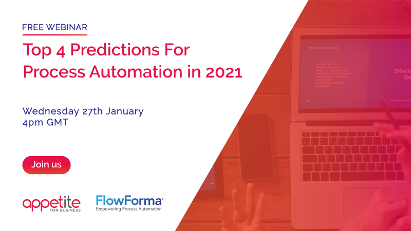 Advertising banner for Top 4 Predictions for Process Automation in 2021