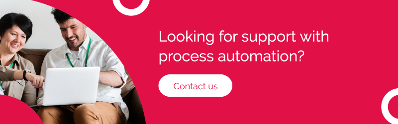 Ad for support with process automation